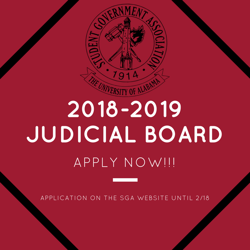 2018-2019 SGA Judical Board Application