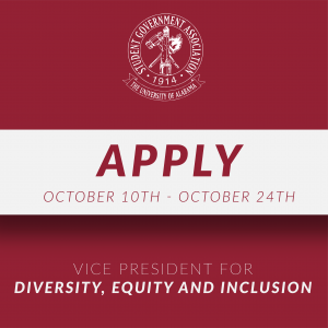 Apply for the Vice President for diversity, equity, and inclusion from october 10th to october 24th!