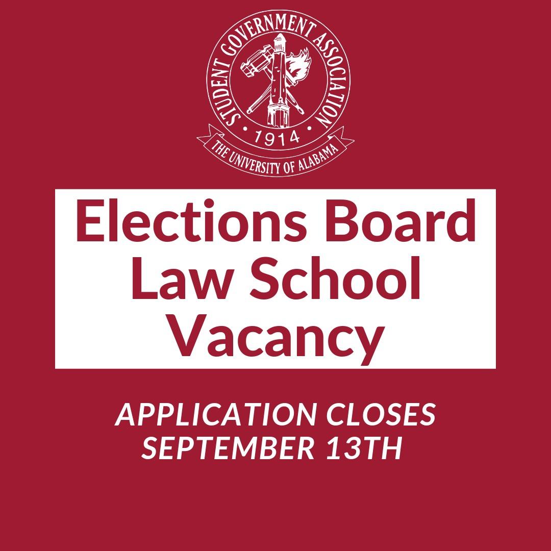 Elections Board Law School Vacancy