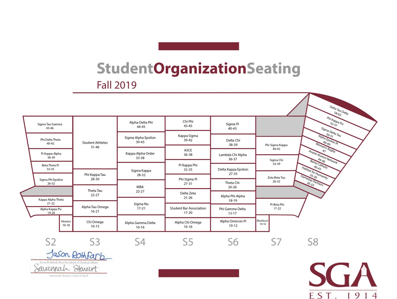 Student Org Seating