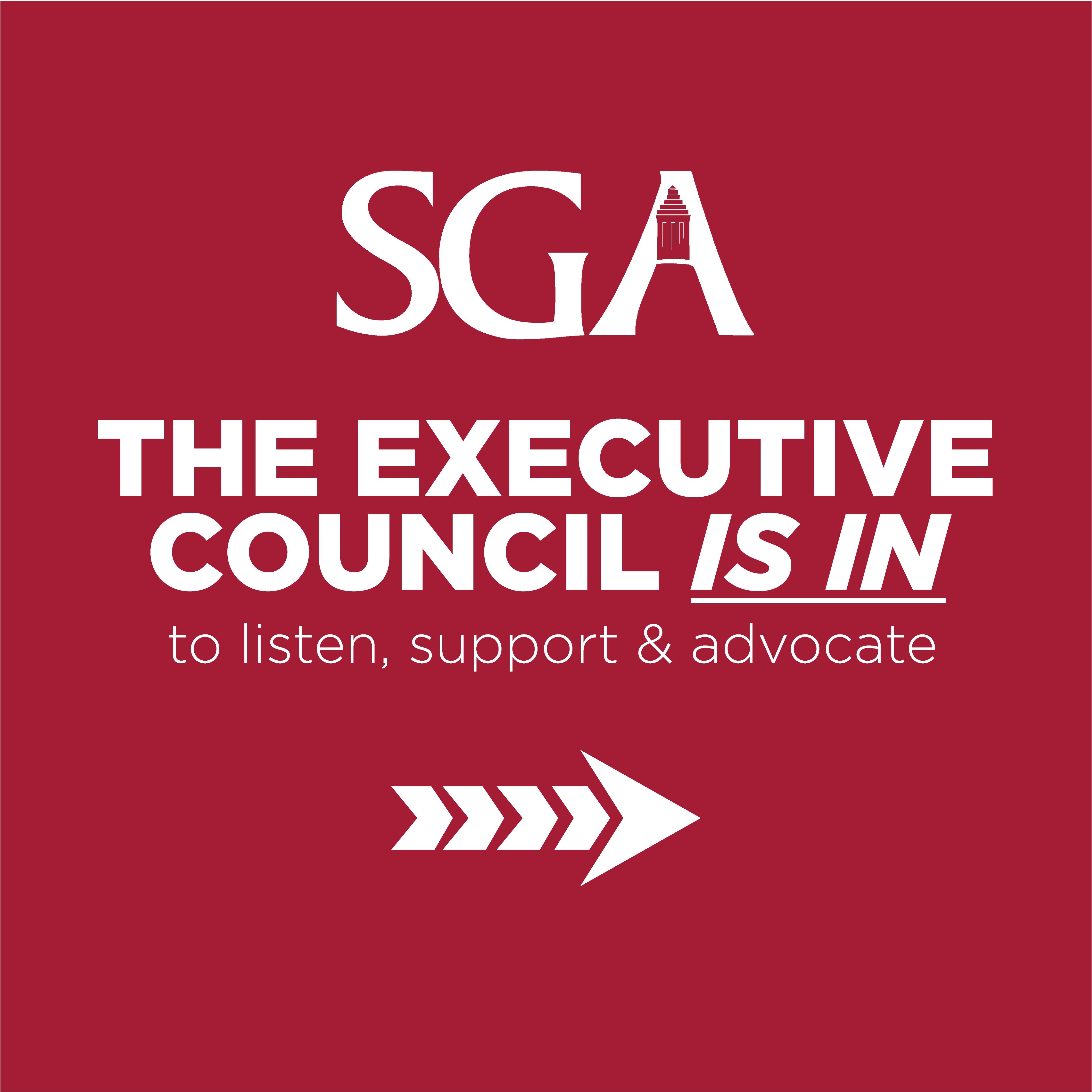 The Executive Council is in to listen, support and advocate