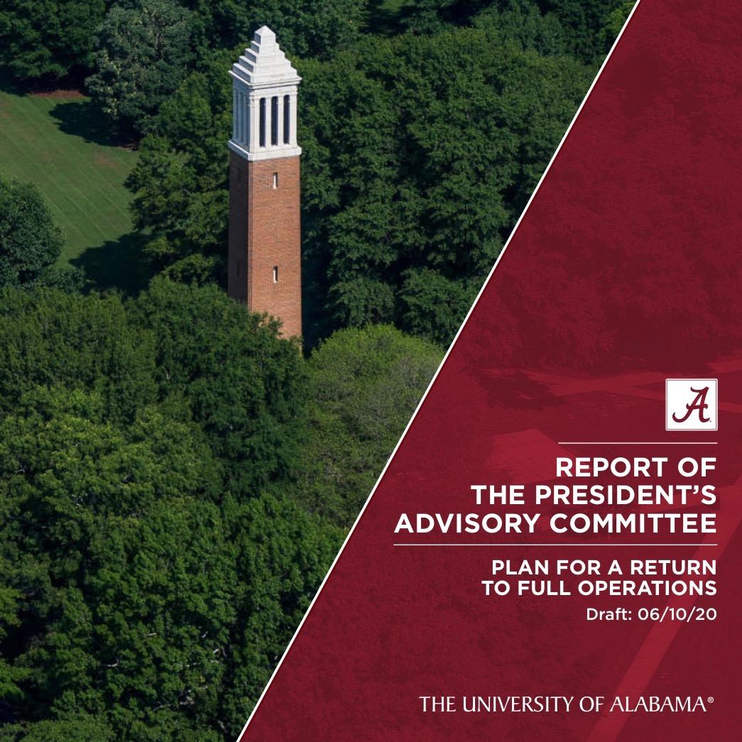 Report of the President's Advisory Committee - University Return Plan Draft June 10, 2020