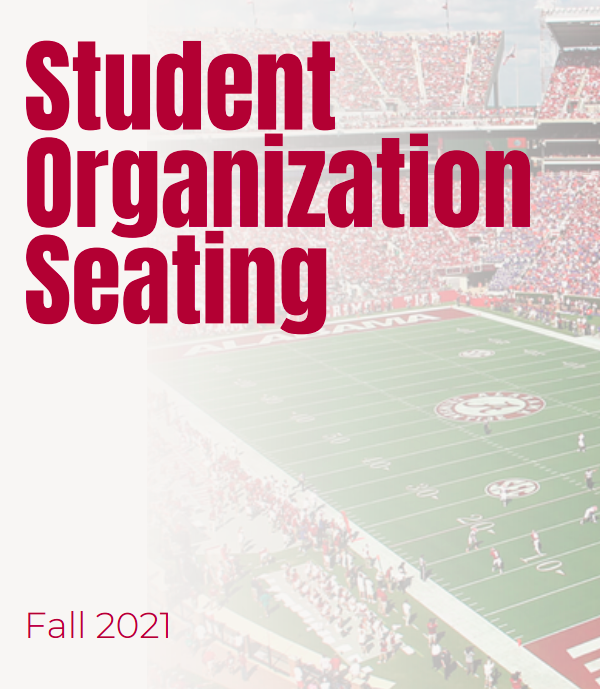2021 Student Organization Seating Opt-In Page